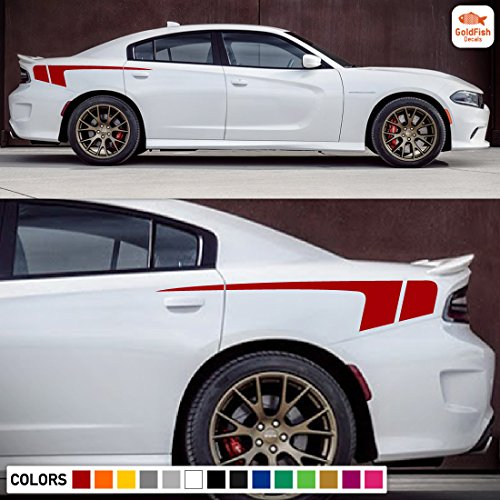 Decal Sticker Vinyl Rear Quarter Panel Kit Compatible with Dodge Charger 7th Gen
