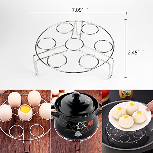 6 PACKS Instant Pot Accessories Steamer Basket Steamer Sets Steamer Base Springform Pan Egg Steamer Rack Silicone Oven Mitts Plate Dish Clip for Pressure Cooker Cooking Pot Steamer Pot Pan 4 5 6 8 qt by STEAMER-6 (Image #2)