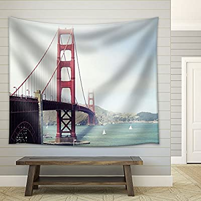 Golden Gate Bridge in San Francisco California Fabric Wall, Made With Love, Gorgeous Technique