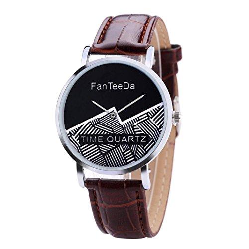 20 Mm Curved Tube - Fashion Watch, Ikevan FanTeeDa Acrylic Simple Buckle Buckle Wrist Watch (Brown)