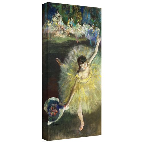 Art Wall 'End of an Arabesque' Gallery-Wrapped Canvas Artwork by Edgar Degas, 18 by 36-Inch by Art Wall