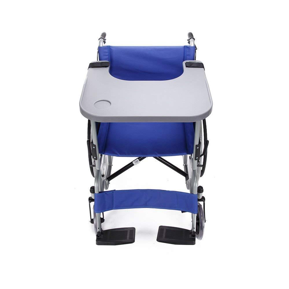 Bandeja de escritorio de plástico, Accesorio para silla de ruedas para escritura/lectura/dieta, unido al brazo de silla de ruedas estándar, Bandeja de mesa ...