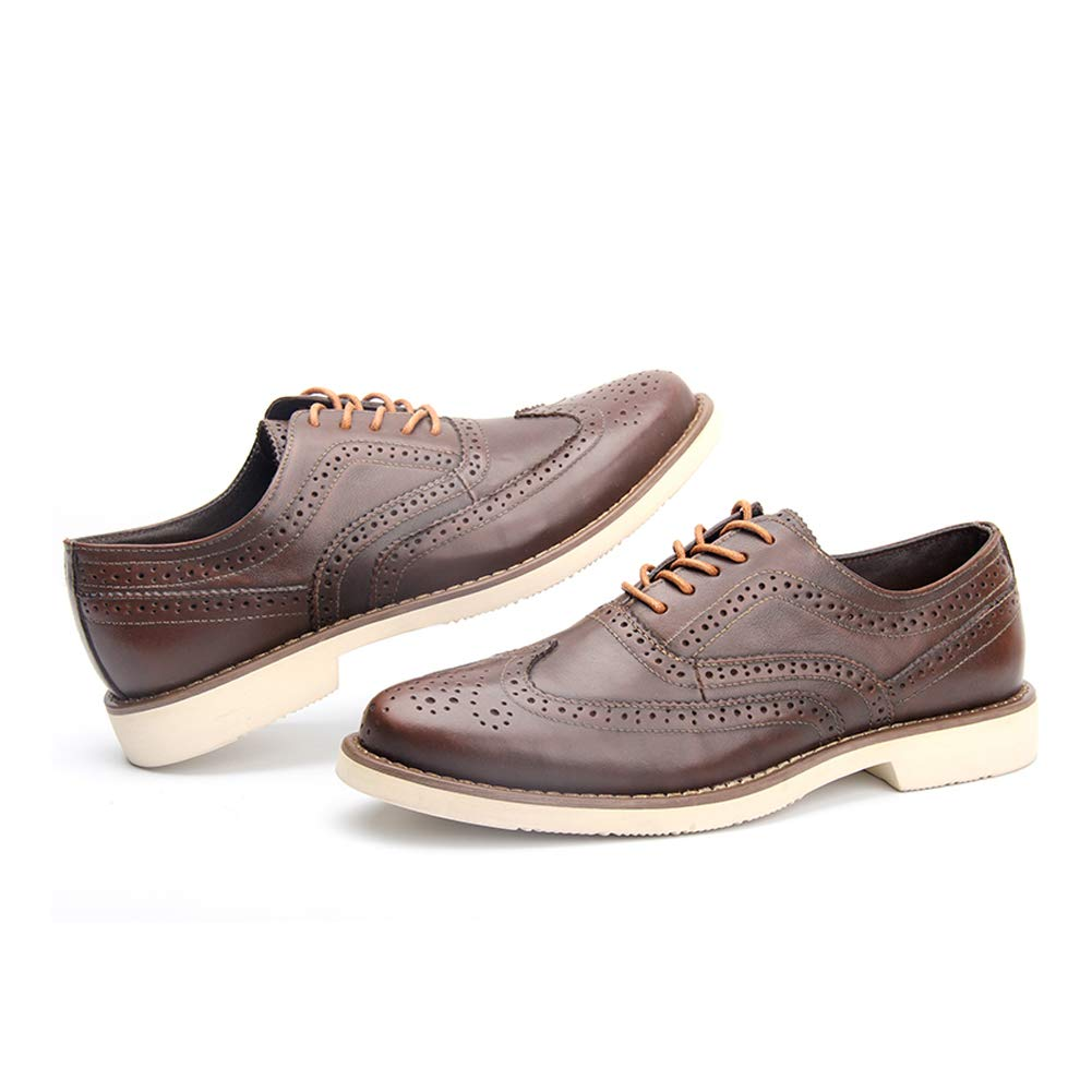 LEFT&RIGHT Herren Sohlen Leder Schnürschuhe Formal Herren Schuh Handgefertigte Leder Sohlen Herren Oxford Lace-Up Casual Schuhe f2a875