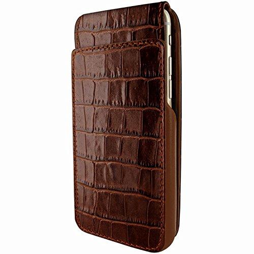 Piel Frama U7 60COM Etui souple en cuir pour iPhone 7 Crocodile Marron