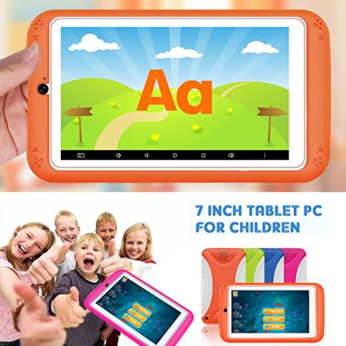 7'' Kids Tablet PC, Q798 Android 4.4 8GB ROM 512MB RAM Tablet Dual Camera WiFi USB Phablet Silicone Case by XINSC (Image #4)