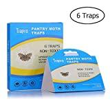 Trapro Pantry Moth Traps Food Moth Trap Kitchen Moth Trap with Pre-Baited Safe Pheromone Attractant, Odor-Free, Insecticide-Free and Non-Toxic