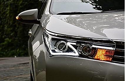 Amazon Com Gowe Car Styling For Toyota Corolla Headlights 2014 2016