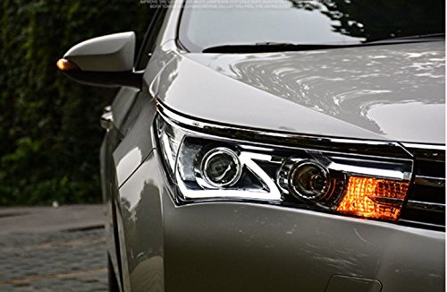 GOWE Car Styling for Toyota Corolla Headlights 2014-2016 Altis LED Headlight DRL Bi Xenon Lens High Low Beam Parking Fog Lamp Color Temperature:8000K;Wattage:35K 0