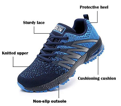 Azooken Herren Damen Sportschuhe Laufschuhe Turnschuhe Sneakers Leichte Fitness Mesh Air Sneaker Straßenlaufschuhe… 3