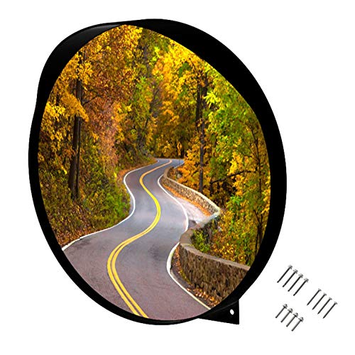 WatchYrBack 24 inch Convex Mirror, Outdoor or Indoor, Wide Angle View, Curved Traffic Safety and Security Mirror 610 mm from WatchYrBack