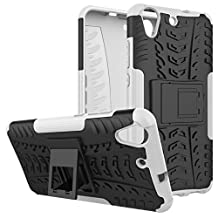 HUAWEI Y6II Back Case Armor DWaybox Hybrid Rugged Heavy Duty Hard Case Cover for HUAWEI Y6II / Y6 II / Y6 2 (2016) / Honor Holly 3 / Honor 5A 5.5 Inch Stand Case with Kickstand (White)