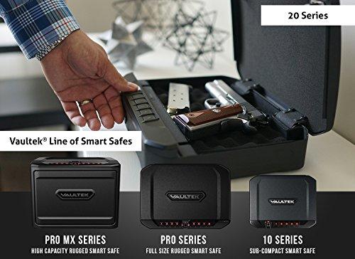 VAULTEK VT20i Biometric Handgun Safe Smart Pistol Safe with Auto-Open Lid and...