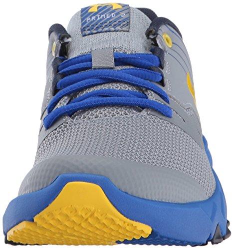 Under Armour Kids Boys Grade School Primed 2 Running Shoe Steel/Team Royal/Taxi