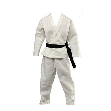 1/6 Fashion Blanco Karate Traje de Entrenamiento de Judo 12 ...