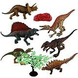 6Pcs/Set Dinosaur Figure Toys Jumbo PVC Dinosaur Playset Educational Realistic Dinosaur Figures for Kids Toddlers