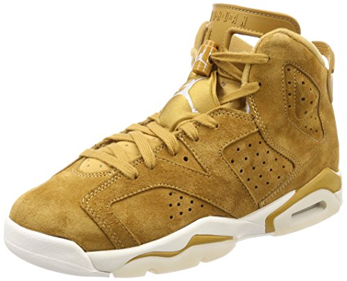 Nike Air Jordan 6 Retro BG Big Kid's Basketball Shoes Golden Harvest, 6