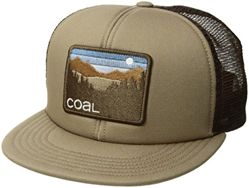 (Coal Men's The Hauler Mesh Back Trucker Hat Adjustable Snapback Cap, Dark Khaki, One Size)
