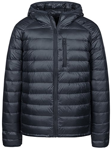Wantdo Men's Packable Ultra Light Weight Hooded Puffer Down Jacket(Dark Grey,XL) by Wantdo
