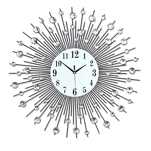 (Decoration Clocks Wall Mount Modern Minimalist European Style Living Room Wall Clock Creative Fashion Personality Bedroom Mute Quartz Clock,75cm)