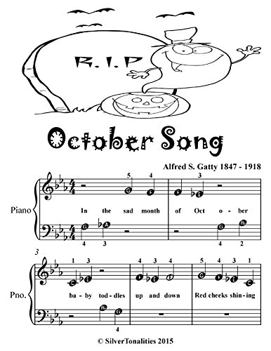 October Song Beginner Piano Sheet Music Tadpole Edition -