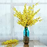 YILIYAJIA-Artificial-Flowers-Bouquets-Fake-Bridal-Silk-Butterfly-Dancing-Lady-Orchid-FlowersOncidium-Floral-for-Wedding-Home-Office-Decoration8-pcs-Light-Yellow