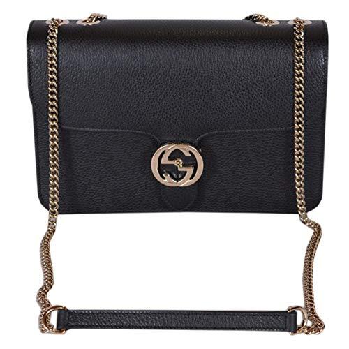 Jual Gucci Bree Guccissima Black Crossbody Leather Bag New - Cross ... 86da93b1647e0