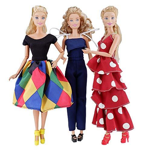[해외]E-TING 3 Sets Doll Clothes Chiffon Skirt Jumpsuits Office Style Wears Dress for 11.5 Inches Girl Dolls / E-TING 3 Sets Doll Clothes Chiffon Skirt Jumpsuits Office Style Wears Dress for 11.5 Inches Girl Dolls