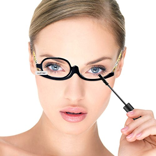 Reading glasses makeup glasses eyes makeup glasses flip lenses folded for women leopard - Glasses Folded