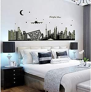 Shanghai Oriental Pearl Night DIY Living Room Luminous Wall Sticker , 2724656863120