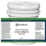Fractionated Coconut Oil-MCT Oil, Food and Therapeutic Grade, Carrier Oil, Massage Oil, Hydrating Oil, Hair Oil, 0 Additives, Organic Coconut, Pure Coconut Oil (640 Ounce (5 Gallon))