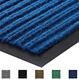 Gorilla Grip Original Commercial Grade Rubber Floor Mat, 35x23, Heavy Duty, Durable Doormat for Indoor and Outdoor, Waterproof, Easy Clean, Low-Profile Mats for Entry, Patio, High Traffic, Blue