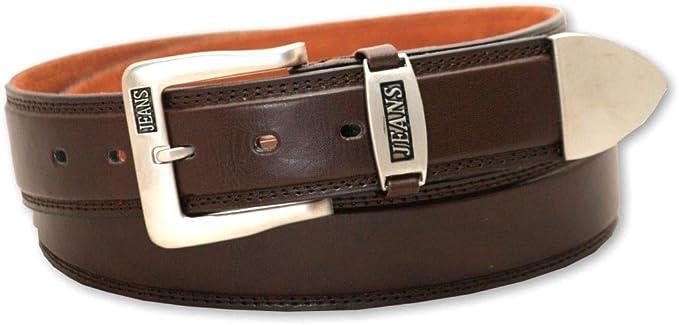 Brown Genuine Leather Buckle Belt
