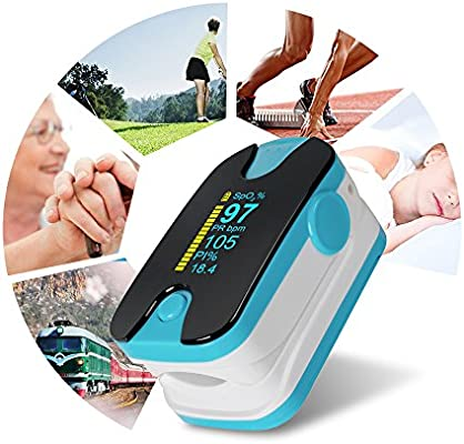 Fingertip Health Monitors Real-time Tracking and Monitoring SpO2 Heart Rate Counter Fitness and Activity Monitor Tracker