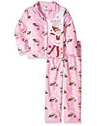 Elf on The Shelf Girls' 2-Piece Pajama Coat Set Elf On The Shelf