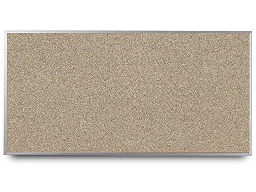 EverWhite High Density Cork Aluminum Framed Bulletin Board, 4' Height x 10' Length, Clay (T7600-4X10-Clay)