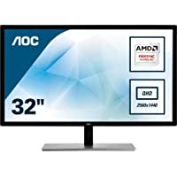 "AOC Value-Line Q3279VWFD8 Pantalla para PC 80 cm (31.5"") Quad HD LED Plana Mate Negro - Monitor (80 cm (31.5""), 2560 x 1440 Pixeles, Quad HD, LED, 5 ms, Negro)"