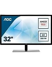 "AOC Q3279VWFD8 31.5"" IPS LED QHD (2560x1440) Freesync 75Hz monitor. (VGA, DVI, HDMI, DisplayPort)"