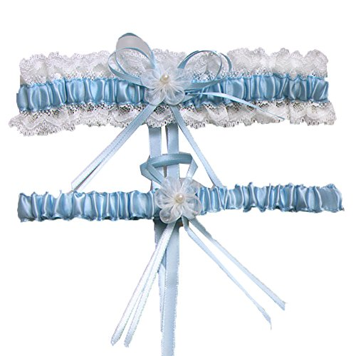 Aurora Bridal Wedding Accessories Lace Garter for Bridal - Sheer Satin Garter