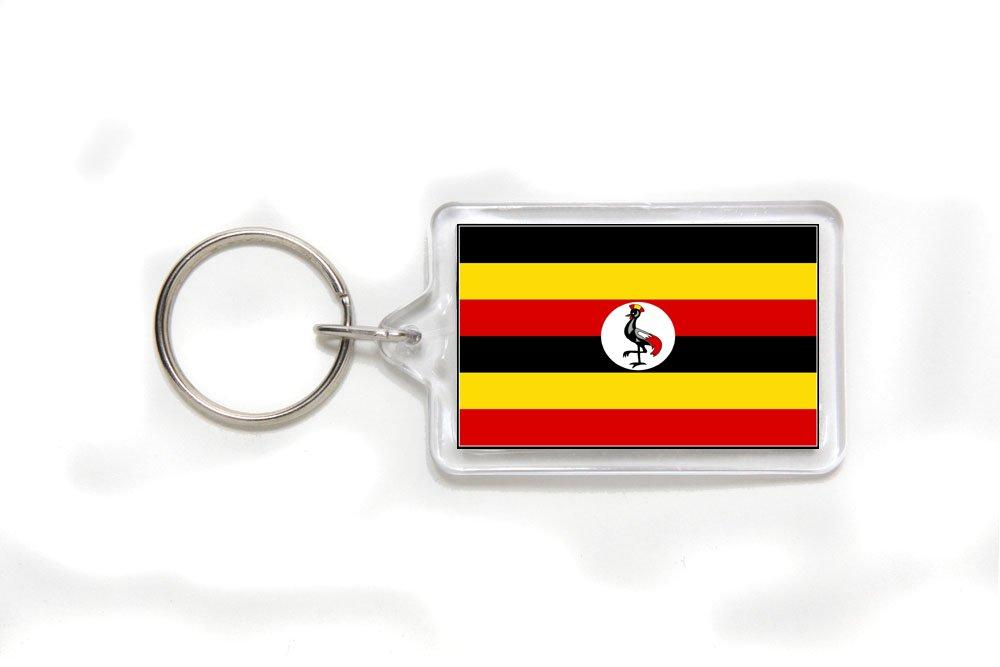 Uganda Ugandan Flag Double Sided Acrylic Key Ring Small