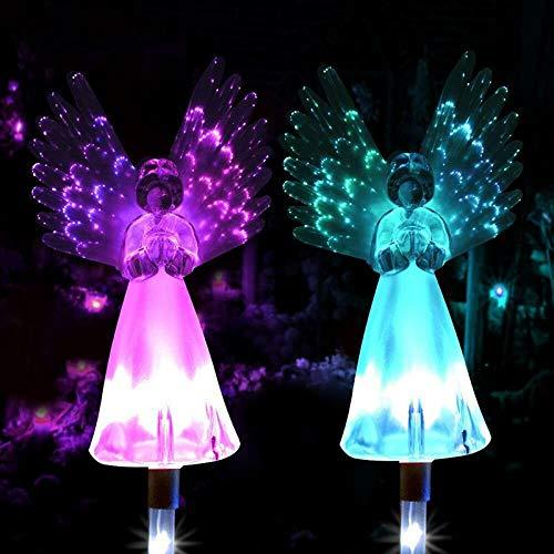 TiooDre Solar Power Lights,1PC Angel Shape Lights Outdoor Garden Path LED Decoration Landscape Luminous Lights