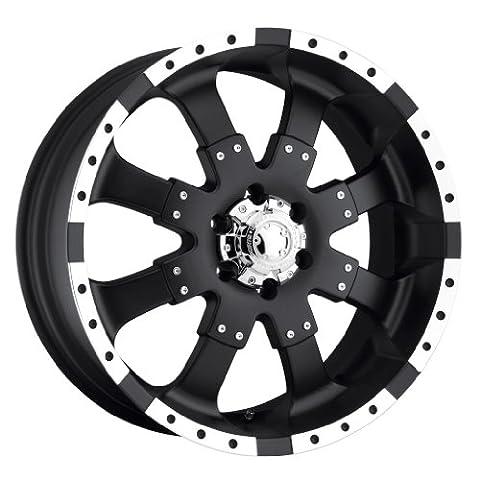 Ultra Wheel 224B Goliath Matte Black with Ultra High Lustre Finish Accents Wheel (17x8