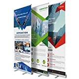 Klvied 33' x 79' Retractable Roll Up Banner Stand, Heavy Duty Aluminum Base, with a Portable Carrying Bag for Trade Show Display and Exhibition Promotion