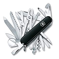 "ULTIMATE COMPANION  From housework to camping adventures, the 3.6"" SwissChamp comes prepared for any situation. Featuring 33 tools, stainless steel construction, and Swiss-Made precision, the SwissChamp is the essential handy helper for anyon..."