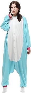 TALLA S. Dulce Unicornio Pijama Felpa Trajes En general Ropa de dormir Ropa de noche Ropa de salón Para niños y adultos (S, Azul)