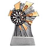 Juvale Darts Trophy - Small Resin Award Trophy for Academic Competitions, Parties, 5 x 3.5 x 1.25 Inches
