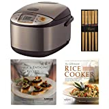 zojirushi rice cake maker - Zojirushi NS-TSC18 Micom Rice Cooker and Warmer – 1.8 Liters Includes Bamboo Chopsticks and Set of Two Cookbooks