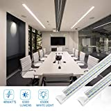 4FT LED Shop Light, 48W 6500K Cool White 6300LM