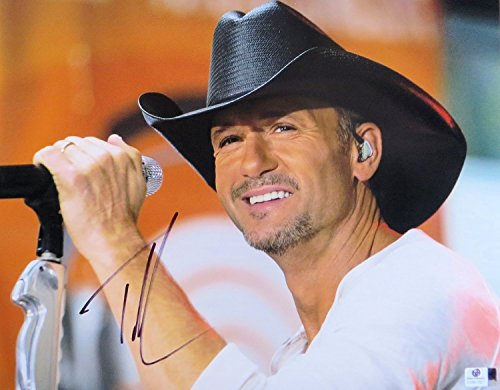 - Tim McGraw Signed Autographed 11X14 Photo Country Star Cowboy Hat JSA CC88588