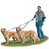 Fur Haven 724809 Two Tails Walking Double Dog Pet Leash, Lagoon, One Size