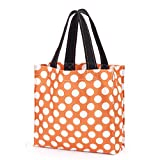 Fabric Tote Storage Halloween, Orange Dot